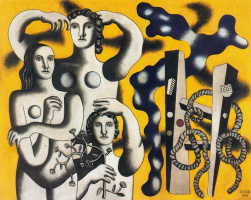 Fernand Leger. Composition with three figures