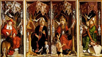 Майкл Пачер. Алтарь из четырех латинских пап