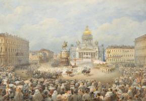 Василий Семенович Садовников. Открытие памятника императору Николаю I на Мариинской площади