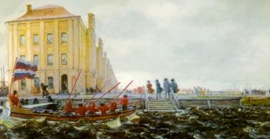 Evgeniy Evgenievich Lansere. Petersburg in the XVIII century. Building of the Twelve Colleges