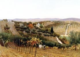 Телемако Синьорини. Осень в деревне