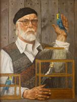 Гелий Михайлович Коржев. Автопортрет с попугаями