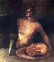 Одилон Редон. Голова на блюде