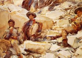 John Singer Sargent. Carrara: working