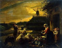 Виллем ван Херп. Крестьянский двор