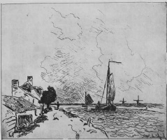 Ян Бартолд Йонгкинд. Две парусные лодки