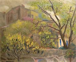 Борис Дмитриевич Григорьев. Дом с розовой крышей