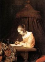 Герард Терборх. Женщина пишит письмо