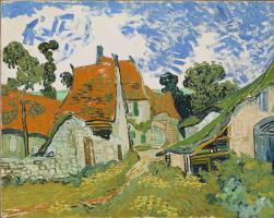 Vincent van Gogh. Street in Auvers-sur-Oise