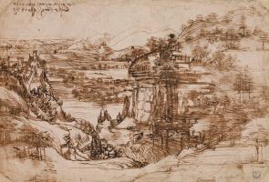 Sketch the Tuscan landscape