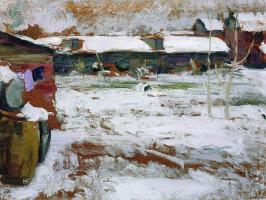 Абрам Ефимович Архипов. Зима. Задворки