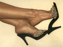 Ким Харлоу. Леопардовые носки