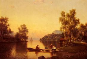 Эрнфрид Уолквист. На озере