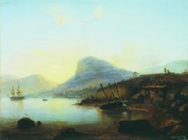 Лев Феликсович Лагорио. Берег моря. 1849  48 x 67