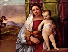 Тициан Вечеллио. Мария с младенцем