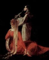 Иоганн Генрих Фюссли. Царица эльфов Титания и Основа, ткач с головой осла, деталь