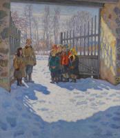 Николай Петрович Богданов-Бельский. Мартовское солнце