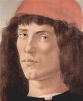Сандро Боттичелли. Портрет молодого мужчины в красной шапочке