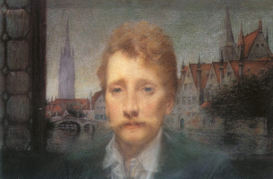 Lucien Levi-Durme. Portrait of the poet Georges Rodenbach