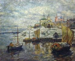 Константин Иванович Горбатов. Вид Пскова