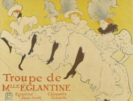 Henri de Toulouse-Lautrec. The troupe of Mademoiselle Eglantine