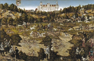 Deer hunt in honour of Charles V near the castle in Torgau