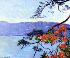 Lila Cabot Perry. Suruga Bay. Azaleas