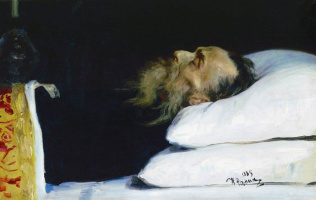 Илья Ефимович Репин. Историк Николай Иванович Костомаров в гробу
