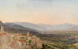 Evening in a mountain valley Velletri