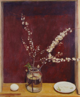 Дмитрий Дмитриевич Жилинский. «Весенний натюрморт» 1980 Оргалит