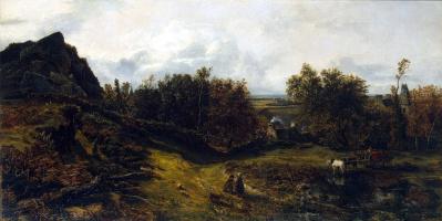 Theodore Rousseau. View near Granville