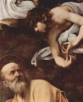 Микеланджело Меризи де Караваджо. Святой Матфей и ангел. Фрагмент