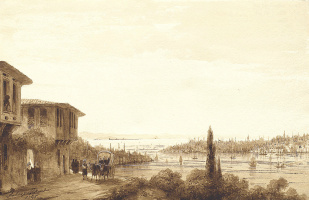 Ivan Aivazovsky. View of Constantinople from skutari. From the Album the Grand Duke Konstantin Nikolaevich