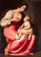Артемизия Джентилески. Мадонна с младенцем