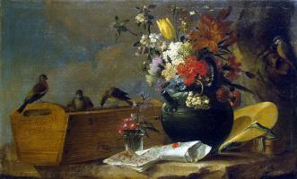 Чарльз Уайт. Цветы и птицы