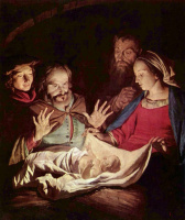 Gerard van Honthorst. The adoration of the shepherds
