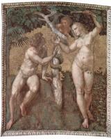Рафаэль Санти. Адам и Ева. Станца делла Сеньятура в Ватикане