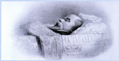 Vasily Petrovich Vereshchagin. Shevchenko on his deathbed