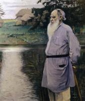 Mikhail Vasilyevich Nesterov. Portrait Of Lev Nikolayevich Tolstoy