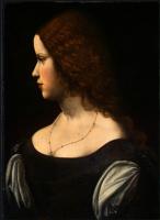 Неизвестный  художник. Портрет молодой дамы