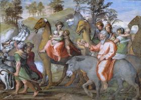 Возвращение Иакова в Ханаан. Фреска лоджии Рафаэля дворца понтифика в Ватикане