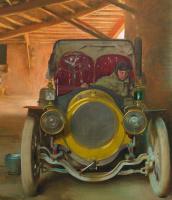 Рамон Касас Карбо. Spanish garage. Fragment. Car