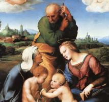 Рафаэль Санти. Святое семейство со святыми Елизаветой и Иоанном (Мадонна Каниджиани). Фрагмент