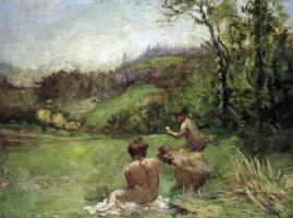 Кер-Ксавье Руссель. Сатиры на фоне пейзажа