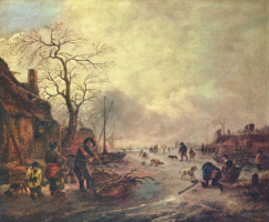Исаак ван Остаде. Увеселения на льду