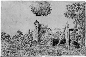 Херкюлес Питерс Сегерс. Руины монастыря