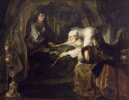 Фердинанд Балтасарс Боль. Умирающий Давид дает наставления Соломону
