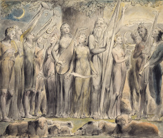 William Blake. The Book Of Job. A celebration of the prosperity of job, and his family