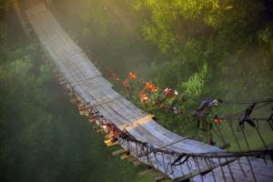 Vladimir Nikolaevich Bezgreshnov. Morning. Bridge.