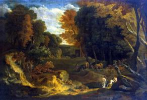 Корнелис Хейсманс. Лесной пейзаж с рекой
